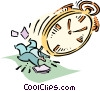 Vector Clip Art picture  of a time management