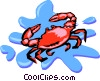 Vector Clipart image  of a crab