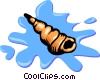 Vector Clip Art image  of a seashell
