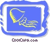 Vector Clip Art image  of a jelly fish