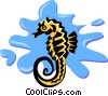 Vector Clipart picture  of a seahorse