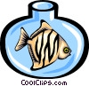 fish in fishbowl Vector Clipart graphic