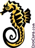 Vector Clip Art picture  of a seahorse