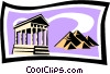 temple and pyramids Vector Clip Art image