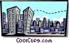 Vector Clip Art graphic  of a landscapes