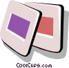 Vector Clip Art graphic  of a 35 mm slides
