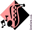Vector Clipart illustration  of a saxophone symbol