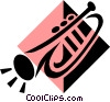Vector Clip Art image  of a trumpet symbol