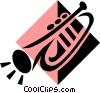 Vector Clipart image  of a trumpet symbol