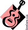 Vector Clipart illustration  of a guitar symbol