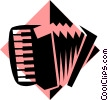 Vector Clip Art picture  of an accordion symbol