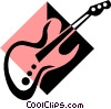 electric guitar symbol Vector Clipart picture