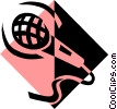 Microphone symbol Vector Clipart illustration