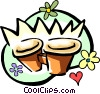 Vector Clipart picture  of a flower pots