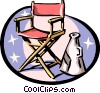 Director's chair and megaphone Vector Clipart picture
