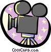 Vector Clipart picture  of a motion picture movie camera