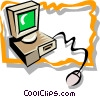 computer Vector Clipart illustration