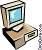 Vector Clip Art graphic  of a computer