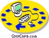 computing Vector Clipart illustration