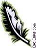 Vector Clip Art image  of a feather