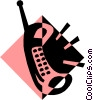 Vector Clipart illustration  of a cellular telephone