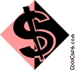 Vector Clipart picture  of a dollar sign
