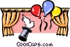 Vector Clip Art graphic  of a party/magic