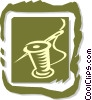 Vector Clip Art graphic  of a needle and thread