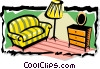 Vector Clip Art graphic  of a living room