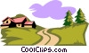 Vector Clip Art image  of a landscape/country setting