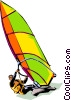 Wind surfer Vector Clip Art graphic