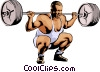 Weight lifter Vector Clipart illustration