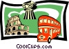 Vector Clipart image  of a sightseeing/travel