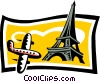 Vector Clip Art image  of a sightseeing/travel