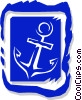 Vector Clipart picture  of an anchor in picture frame