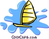 sailboat Vector Clipart image