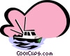 fishing boat Vector Clipart picture