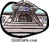 Entrance to bank Vector Clipart image