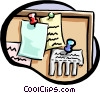 bulletin board Vector Clip Art graphic