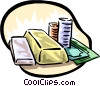 Vector Clipart image  of a business and finance money