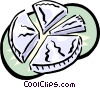 Vector Clipart graphic  of a business piece of the pie