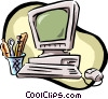 Vector Clip Art picture  of a home PC