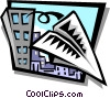 Vector Clipart graphic  of a paper airplane