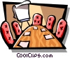 Vector Clip Art image  of a boardroom