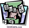 Vector Clip Art graphic  of a newsstand