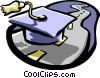 Vector Clipart picture  of a Education planning