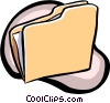 Vector Clip Art graphic  of a folder