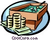 Vector Clip Art graphic  of a gambling with your money