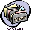 Vector Clip Art graphic  of a message sorter