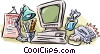 Vector Clip Art image  of a office equipment